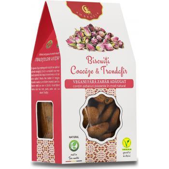 Biscuiti vegani cu coacaze si trandafiri 150 gr AMBROZIA