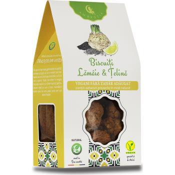Biscuiti vegani cu lamaie si telina-fara zahar 150 gr AMBROZIA