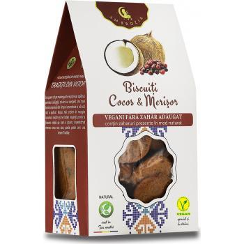 Biscuiti vegani cu merisor si cocos 150 gr AMBROZIA