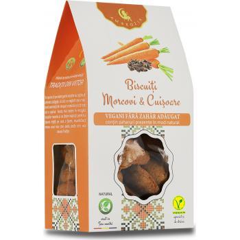 Biscuiti vegani cu morcovi si cuisoare-fara zahar 150 gr AMBROZIA