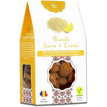 Biscuiti vegani cu susan si lamaie  150 gr AMBROZIA