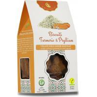 Biscuiti vegani digestivi cu turmeric si psyllium
