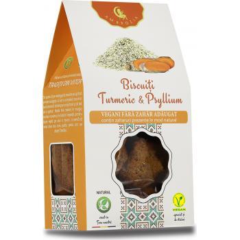 Biscuiti vegani digestivi cu turmeric si psyllium 150 gr AMBROZIA