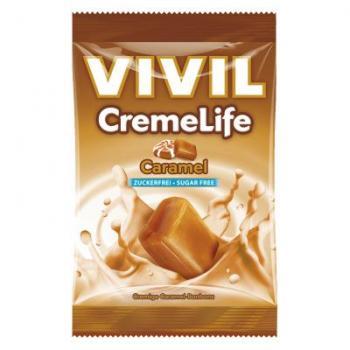 Bomboane creme life cu caramel, fara zahar 110 gr VIVIL