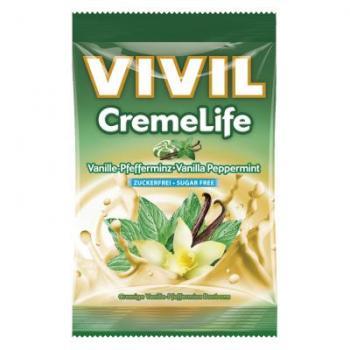 Bomboane creme life cu vanilie si menta, fara zahar 110 gr VIVIL