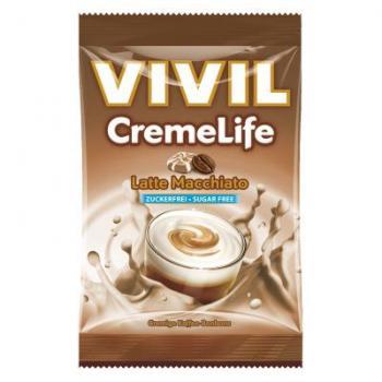 Bomboane creme life late macchiato, fara zahar 110 gr VIVIL
