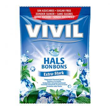 Bomboane extra stark cu menta si vitamina c 60 gr VIVIL
