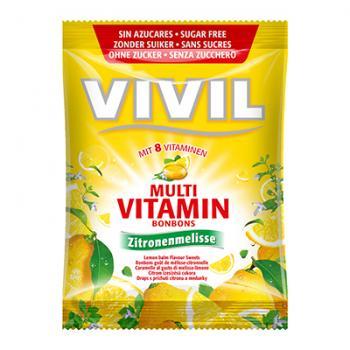 Bomboane multivitamine cu lamaie, fara zahar 60 gr VIVIL