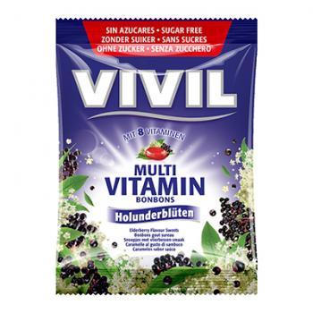 Bomboane multivitamine cu soc, fara zahar 60 gr VIVIL