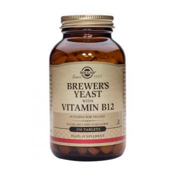 Brewer-s yeast cu vitamina b12 (drojdie de bere) 250 tbl SOLGAR
