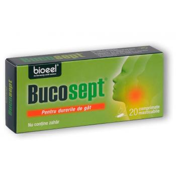 Bucosept pentru dureri de gat 20 cpr BIOEEL