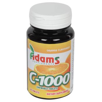 Vitamina C-1000 cu aroma de portocala 30 tbl ADAMS SUPPLEMENTS