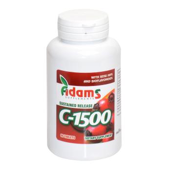 Vitamina C-1500 cu macese 90 tbl ADAMS SUPPLEMENTS