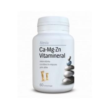 Ca-mg-zn vitamineral 60 cpr ALEVIA