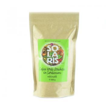 Cafea verde arabica cu cardamon 260 gr SOLARIS