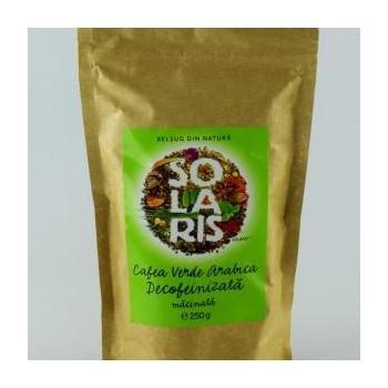 Cafea verde arabica decofeinizata, macinata 250 gr SOLARIS
