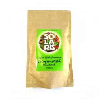 Cafea verde arabica decofeinizata 100 gr SOLARIS