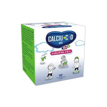 Calciu 500+c+d kids 20 pl FITERMAN