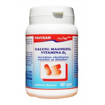 Calciu, magneziu, vitamina d3 b049 40 cps FAVISAN