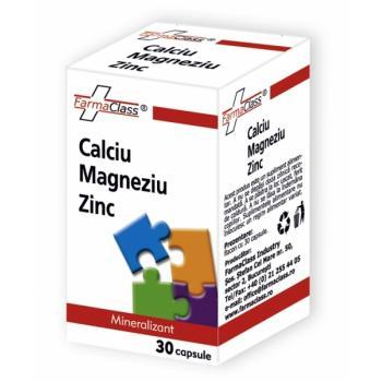 Calciu, magneziu, zinc 30 cps FARMACLASS