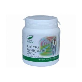 Calciu magneziu zinc 150 cps PRO NATURA