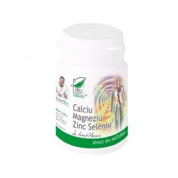 Calciu magneziu zinc seleniu  150 cpr PRO NATURA