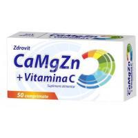 Calciu, magneziu, zinc + vitamina c