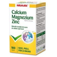 Calciu, magneziu, zinc 100cpr WALMARK
