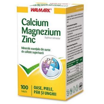Calciu, magneziu, zinc 100 cpr WALMARK