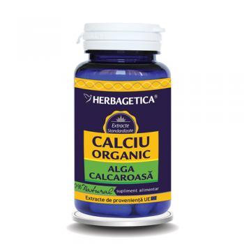 Calciu organic alga calcaroasa 60 cps HERBAGETICA