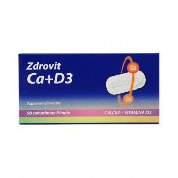 Calciu + vitamina d3 50 cpr ZDROVIT