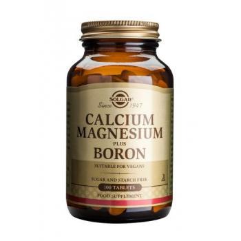 Calcium magnesium plus boron 100 tbl SOLGAR