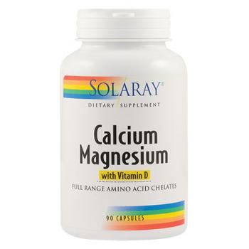 Calcium magnesium with vitamin d 90 cps SOLARAY