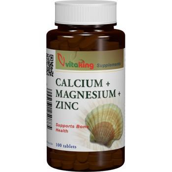 Calciu+magneziu+zinc 100 cpr VITAKING