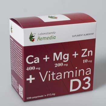 Ca+mg+zn +vitamina d3 120 cpr REMEDIA