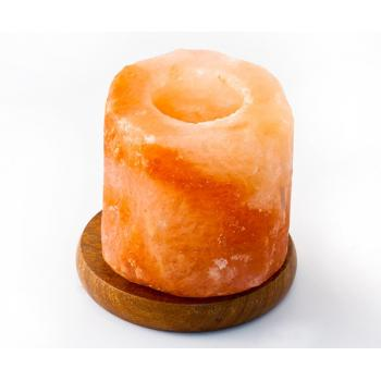 Candela din cristale de sare -pe suport de lemn 1 gr MONTE
