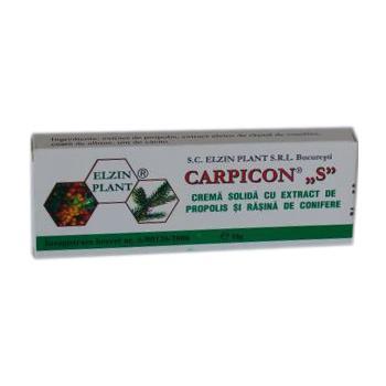 Carpicon s, crema solida (supozitoare) 1.5g-cutie 10 gr CARPICON