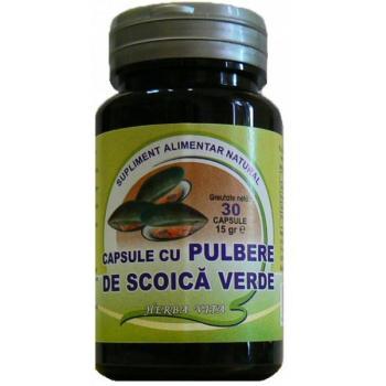 Capsule cu pulbere de scoica verde 30 cps HERBALSANA