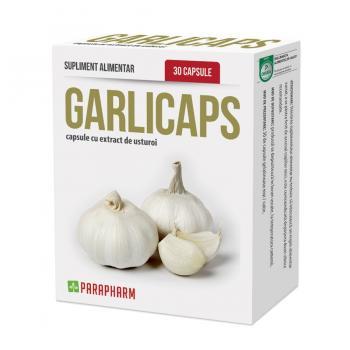 Capsule garlicaps cu extract de usturoi 30 cps PARAPHARM