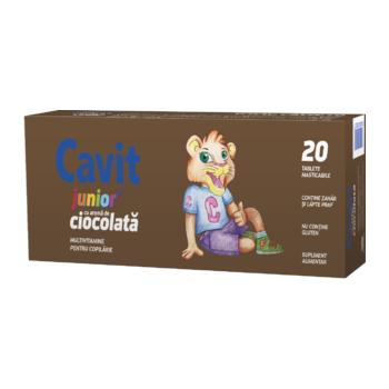 Cavit junior cu aroma de ciocolata 20 tbl BIOFARM