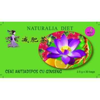 Ceai antiadipos cu ginseng 30 pl NATURALIA DIET