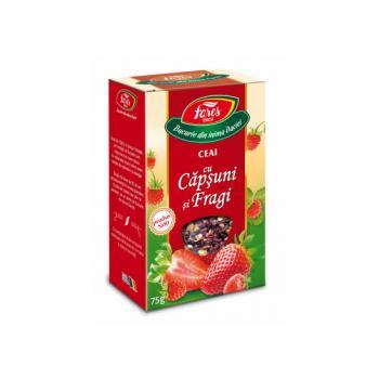 Ceai cu capsuni si fragi 75 gr FARES