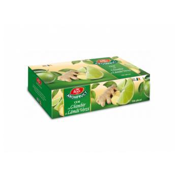 Ceai cu ghimbir si lamai verzi 100 pl AROMFRUCT