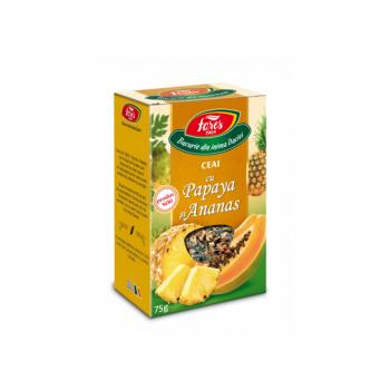 Ceai cu papaya si ananas 75 gr FARES