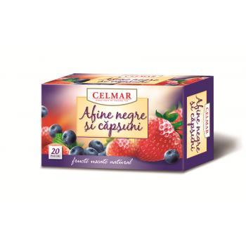 Ceai de afine negre si capsuni 20 pl CELMAR