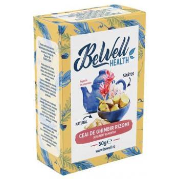 Ceai de ghimbir rizomi 50 gr BEWELL HEALTH