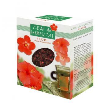 Ceai de hibiscus-flori 75 gr PARAPHARM