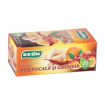 Ceai de portocale si ghimbir 20 pl BELIN