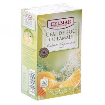 Ceai de soc cu lamaie 20 pl CELMAR
