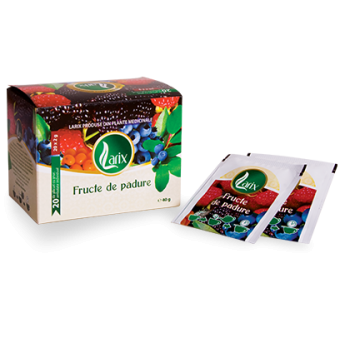Ceai din fructe de padure- cu snur 20 pl LARIX
